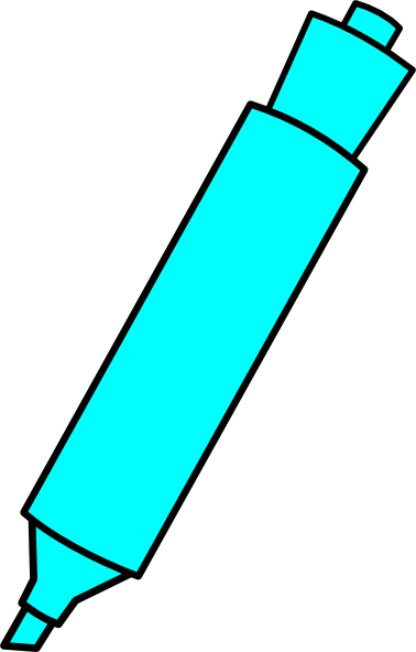 Blue Highlighter Marker Clip Art at Clker.com - vector