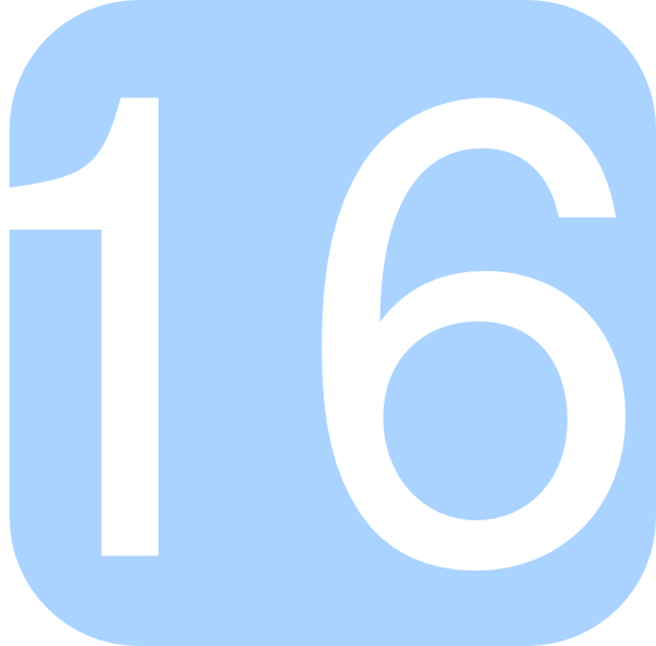 Light Blue  Rounded  Square With Number 16 Clip Art At