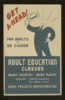 Get Ahead! Adult Education Classes : For Adults At No Charge. Clip Art