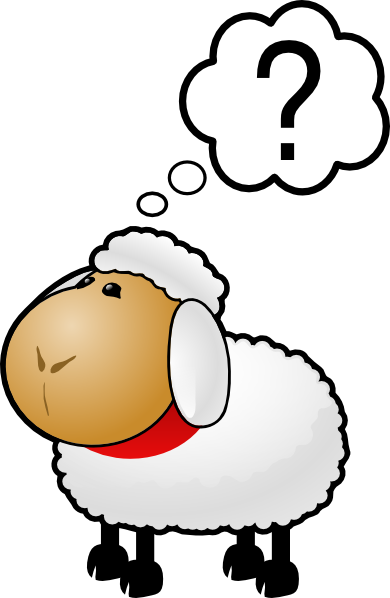 Sheep Question Bubble Clip Art at Clker.com - vector clip ...