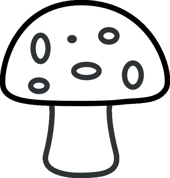 Black And White Mushroom Clip Art At Clker Com Vector
