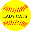Lady Cats Yellow Softball Clip Art