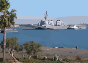 The Arleigh Burke-class Guided Missile Destroyer Uss Fitzgerald (ddg 62) Arrives At Naval Weapons Station (nws) Seal Beach, To Onload Ammunitions. Clip Art