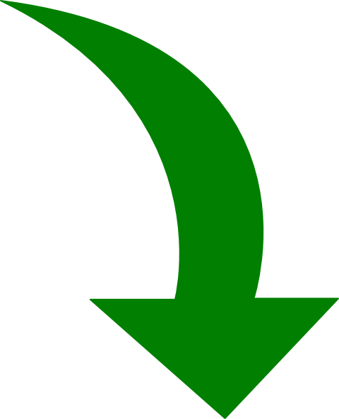 Curved-arrow-bright-green Clip Art at Clker.com - vector ...