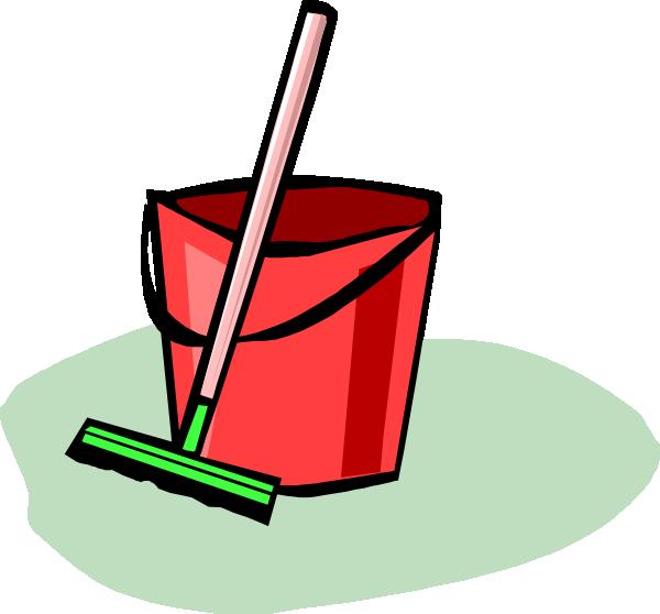 Bucket And Mop Clip Art At Clker Com Vector Clip Art