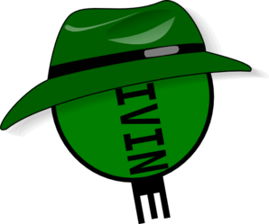Divine Green Hat Clip Art