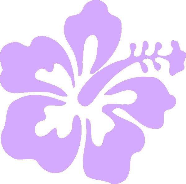 Purple Only Hibiscus Clip Art At Clkercom Vector Clip Art Online