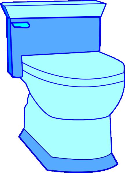 Blue Toilet Clip Art At Clker Com Vector Clip Art Online
