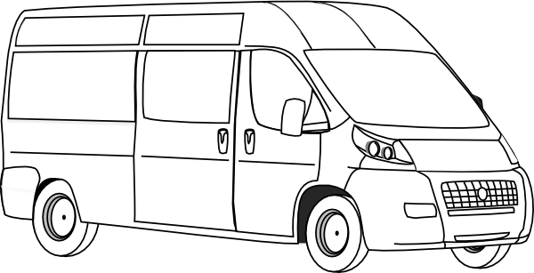 Line Drawing Van : Van outline clip art at clker vector online