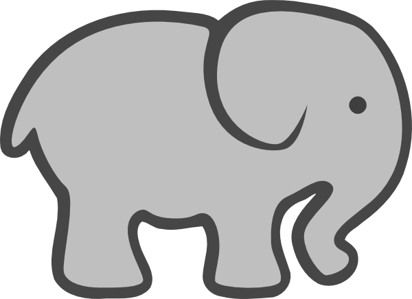 Grey Elephant Mom & Baby Clip Art at Clker.com - vector ... Baby Shower Elephant Cartoon