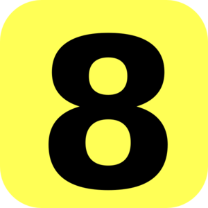 yellow rounded number 8 clip art at clker com vector clip art rh clker com picture of number 8 clipart number 8 clipart black and white