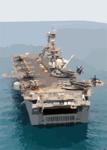 The Amphibious Assault Ship Uss Kearsarge (lhd 3) Conducting Combat Missions In Support Of Operation Iraqi Freedom. Clip Art