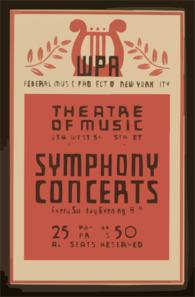 Symphony Concerts Wpa Federal Music Project Of New York City Theatre Of Music. Clip Art