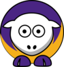 Sheep La Lakers Team Colors Clip Art
