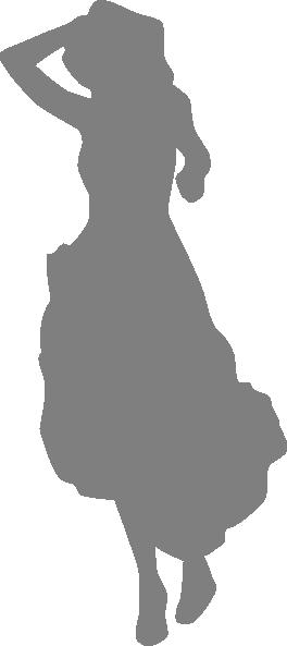 Show Girl, Dress, Gray, Silhouette Clip Art at Clker.com ...
