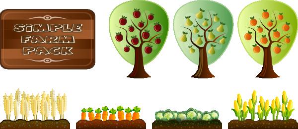 Trees And Crops Clip Art at Clker.com - vector clip art ...