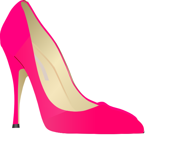 Pink Shoes Size  On High Heels