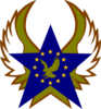 Blue Star With Gold Stars And Eagle Clip Art