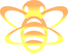 Bee In Yellow/orange Gradient Clip Art