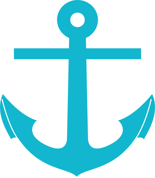 teal anchor clip art at clker com vector clip art online Starfish Outline Drawing Fish Outline Clip Art
