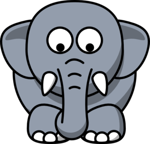 Elephant Looking Down Clip Art