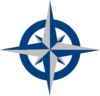 Compass Rose - Blue And Grey Clip Art