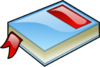 Blue Book With Red Bookmark Clip Art