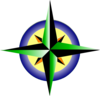 Compass Refreshing Green Blue With Yellow Clip Art