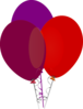 Purple And Red Balloons Clip Art