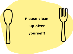 Please Clean Up After Yourself! Clip Art at Clker.com - vector clip art online, royalty free ...