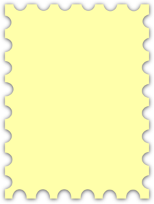 Yellow Blank Postage Stamp  Clip Art