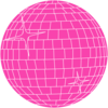 Pink Disco Ball Clip Art
