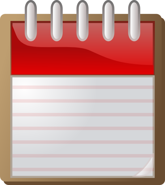 Blank Calendar Day Icon : Blank calendar clip art at clker vector