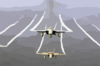 F/a-18a Hornets Ly Over The Western Pacific Ocean During Flight Operations. Clip Art