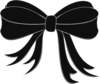 Black Bow Ribbon Clip Art