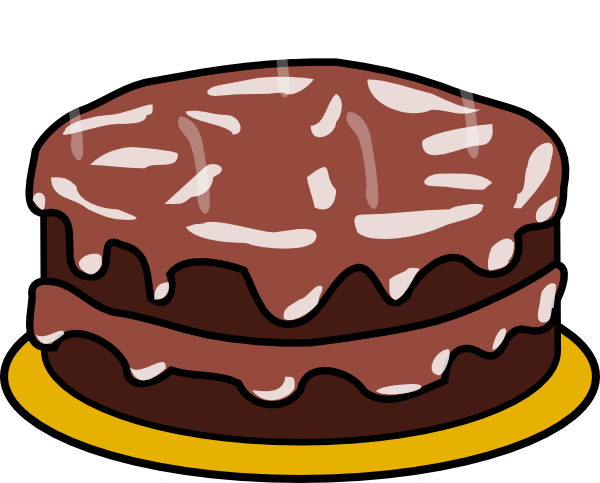 Chocolate And Chocolate Cake Clip Art At Clker Com