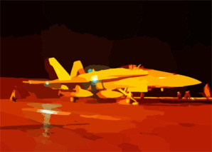 F/a-18 Hornet Night Launch. Clip Art