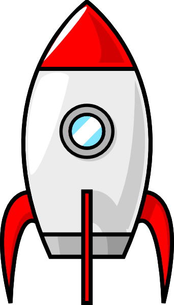 Clipart A Cartoon Moon Rocket on Math Clip Art Black And White