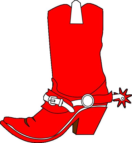 cowgirl boot clip art at clkercom vector clip art