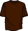 Brown T-shirt Clip Art