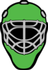 Goalie Mask Green Clip Art