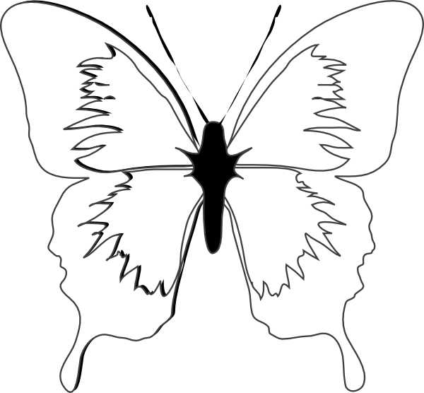 Blue Butterfly Clip Art At Clker Com Vector Clip Art