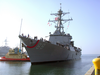 Uss Preble (ddg 88) Arrives For The First Time As Its Homeport Of San Diego Image