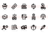0132 News Reporter Icons Image
