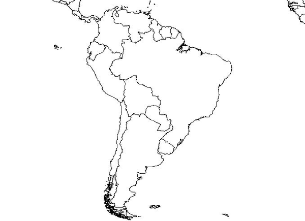 Blank Map Of South America South America Blank Map | Free Images at Clker.  vector clip  Blank Map Of South America