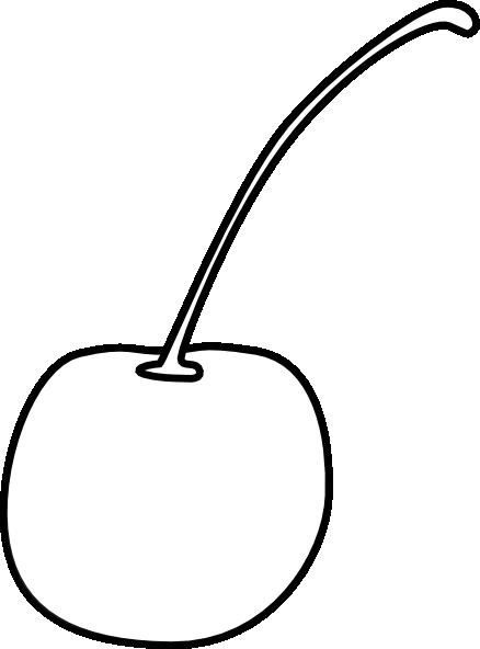 Cherry B&w Clip Art at Clker.com - vector clip art online ...