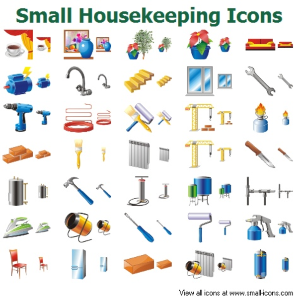 small housekeeping icons