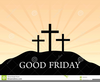 Three Crosses On Hill Clipart Image