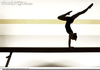 Gymnast On Balance Beam Clipart Image