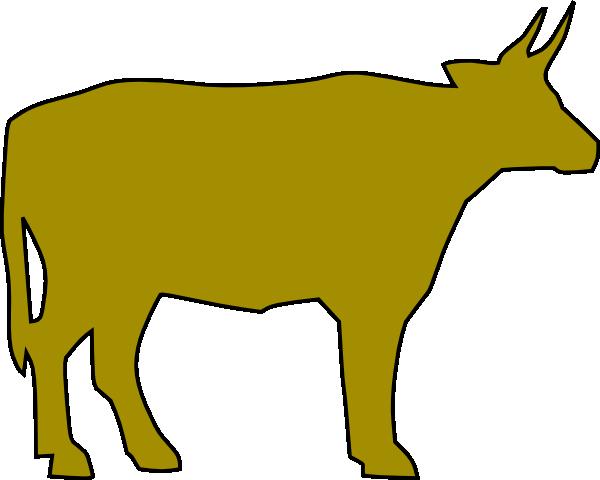 cow silhouette 4 clip art at clkercom vector clip art